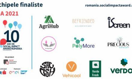 Competiția internațională Social Impact Award a ales 10 echipe pentru a intra în etapa de incubare