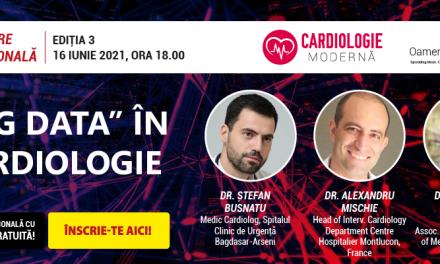 """Comunitatea OSC – ,,Big Data în Cardiologie"""" – tema întâlnirii din luna iunie în cadrul platformei Cardiologie Modernă"""