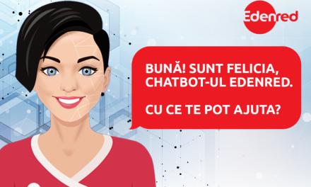 Chatbot-ul Edenred România – Felicia – a preluat cu succes 30% din totalul interacţiunilor cu utilizatorii