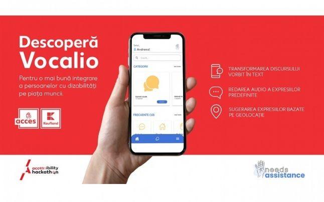 Vocalio, aplicația care ajută persoanele cu deficiențe de vorbire și auz, a fost desemnată câștigătoare a competiției Acessibility Hackathon