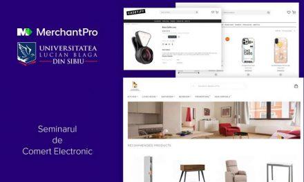 100 de studenți ai Universității Lucian Blaga din Sibiuși-au testat abilitățile de a lansa un businessîn eCommerce cu ajutorul platformei MerchantPro