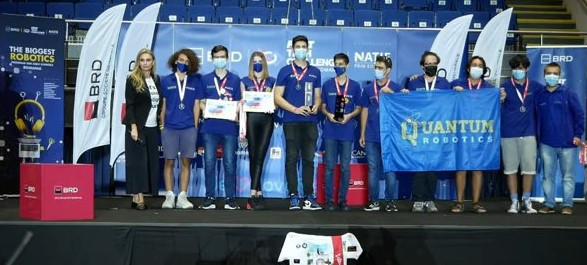 Echipa Quantum Robotics câștigă ambele premii ale competiției BRD First Tech Challenge România