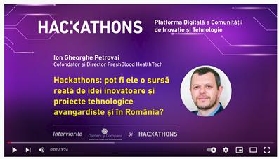 Dr. Ion Petrovai: Hackathoanele sunt o sursă importantă de inovatori, mai ales în domeniul medical