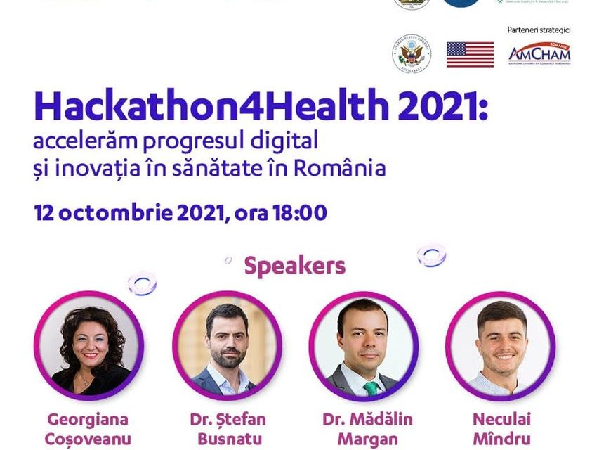 Dr. Ștefan Busnatu, coordonatorul Centrului de Inovaţie și eHealth susține inițiativele din cadrul Hackathon4Health